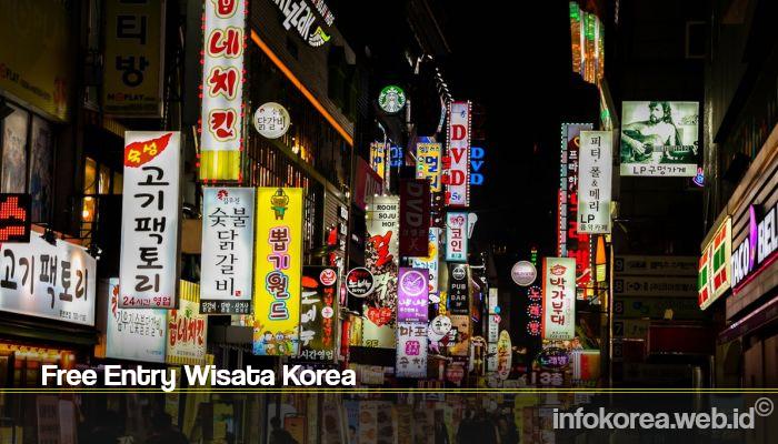 Free Entry Wisata Korea