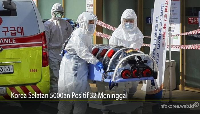 Korea Selatan 5000an Positif 32 Meninggal