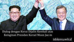 Dialog dengan Korut Dijalin Kembali atas Keinginan Presiden Korsel Moon Jae-in